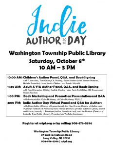 Indie Author Day October 8, 2016