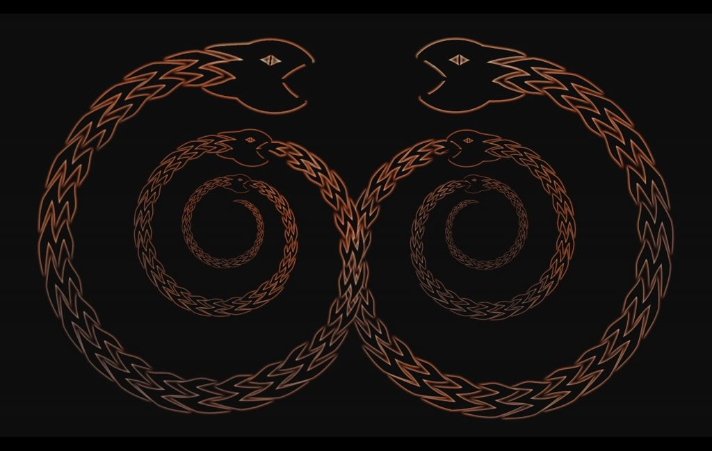 Ouroboros is an ancient symbol depicting a serpent or dragon eating its own tail.