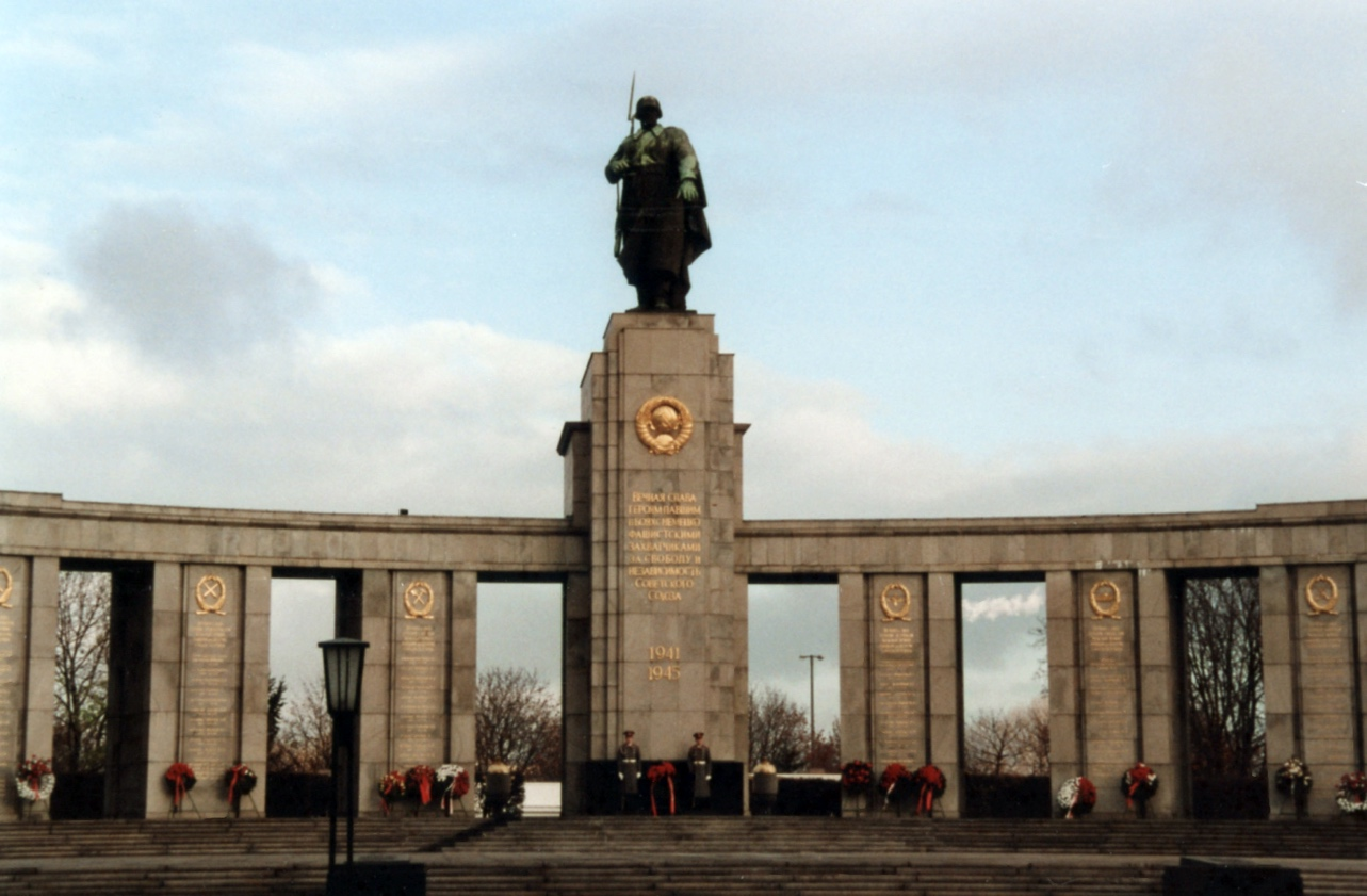 Russian World War II War Memorial in Berlin – November, 1989