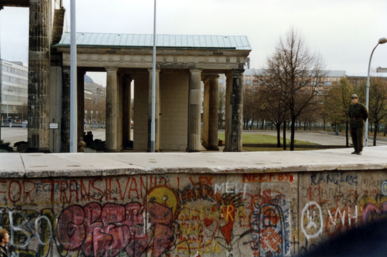 East German Soldier guarding Berlin Wall – November 1989