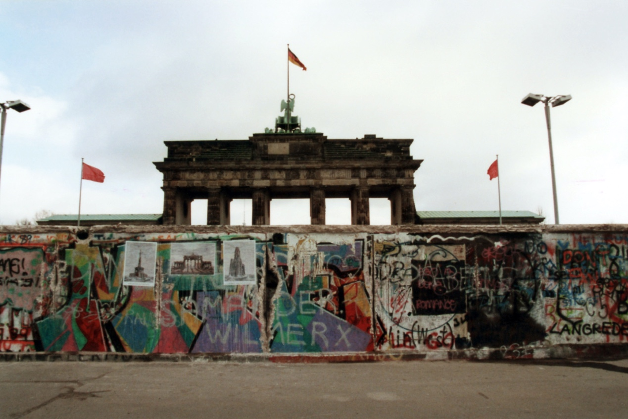 Berlin Wall a few days before it's fall in November, 1989.